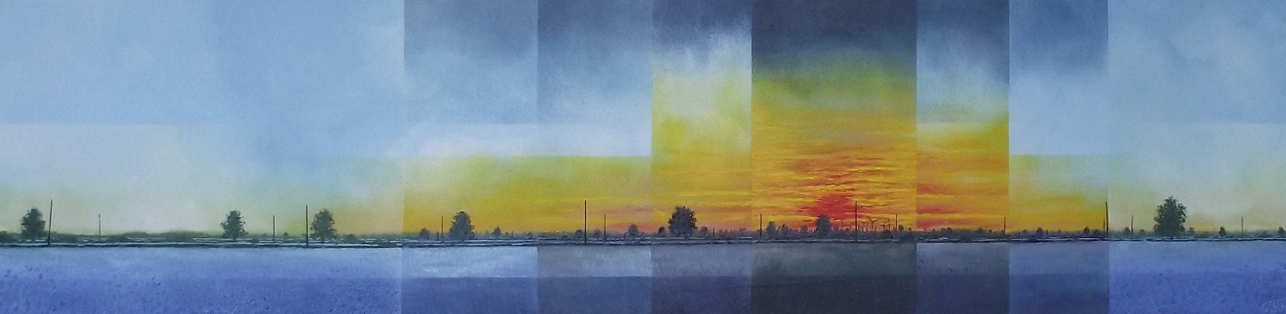 Sunset Over The Oilfields  £1170.00  HH